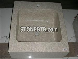 Cheap China Pink Red Granite sink