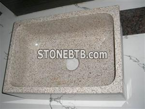 Cheap China Pink Red Square granite sink