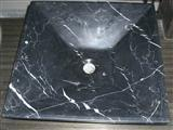 Polished Nero Marquina Square stone sinks