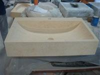 Polished  Selvia Beige Square stone sinks