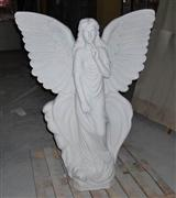 White Stone Angel Carving Statue