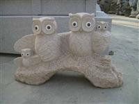 Decorative Owl Stone Carving Statue