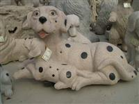 Decorative Dog Stone Carving Statue
