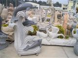 Decorative Dolphin Stone Carving Statue