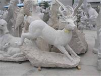 Decorative Deer Stone Carving Statue