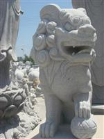 Stone Lion Carving Statue