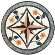 Cheap round stone waterjet medallion