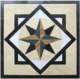 Cheap square stone medallion floor inlay