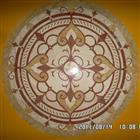 Beautiful round stone medallion floor inlay