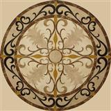 Light emperador stone waterjet medallion floor