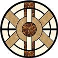 Cheap Light emperador stone waterjet medallion floor