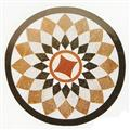 Round Marble Stone Waterjet Patchwork Inlay