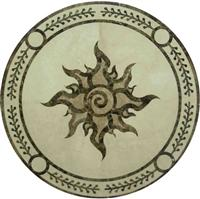 Cheap Round Stone Marble Medallion Pattern