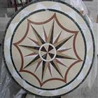 Cheap Round Beige Stone Marble Medallion Pattern