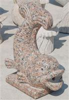 cheap Maple Red granite fish statue for sale