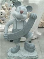 china granite stone rat statue