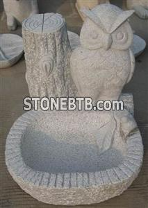 china granite stone owl statue