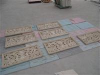 3D Cnc natural sandstone Carving column pattern