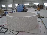 3D Cnc natural round stone Carving column pattern