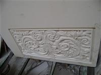3D Cnc decorative natural round stone Carving pattern