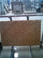 3D Cnc decorative cheap purple sandstone  Carving panel pattern