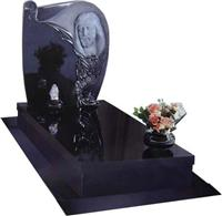 Cheap crystal black marble gravestone Headstone