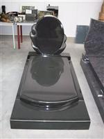 Cheap Pure Black granite gravestone
