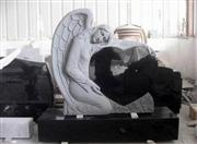 cheap shanxi black angel tombstone