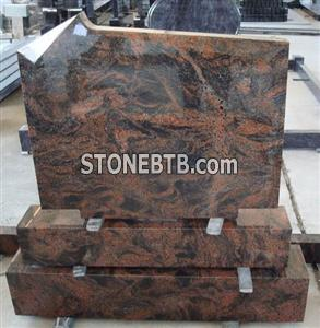 multi color carving granite tombstone