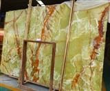 Ancient Green Onyx Stone Slab Wall Tile