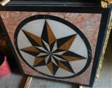 decorative waterjet medallion inlay