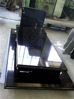 Poland style black granite monument with cross design