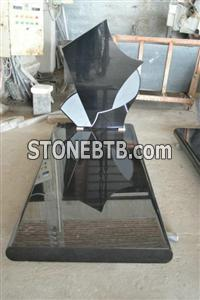Polished Shinny China black Granite Monument
