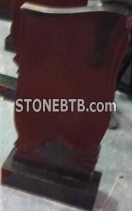 Cheap Black Carved Granite Tombstone Design