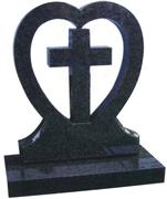 Chinese shanxi black tombstone with cross design