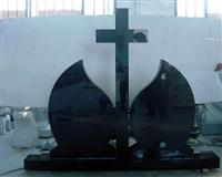 natural high quality black stone monument with cross