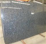 India Black Galaxy Polished Granite Slab Tile