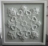 3D White Limestone decorative wall panels