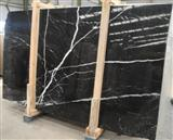 Popular Nero Black Marquina Marble slab tile