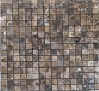 cheap dark emperador marble mosic tiles