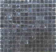 cheap honed nero marquina marble mosic tiles