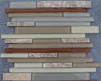 cheap Light emperador mosaic mix glass mosaic