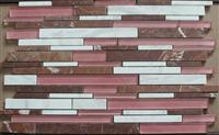 Volakas White Marble mosaic mix glass mosaic