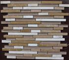 Beige Travertine,Golden King Marble Mosaic mix glass mosaic pattern