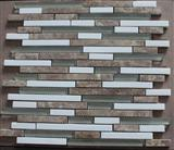 Light Emperador,Vietnam white Marble Mosaic mix glass mosaic pattern