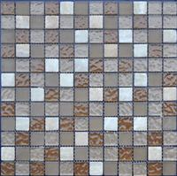 Cream Beige Marble,Glass Mosaic Tiles Pattern