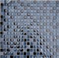 Nero Marquina Marble,Glass Mosaic Tiles Pattern