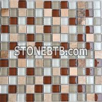 Yellow Serpenggiate Marble Mosaic,Glass Mosaic Tiles Pattern