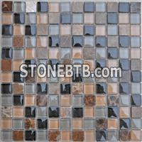 Light Emperador Marble Mosaic,Glass Mosaic Tiles Pattern