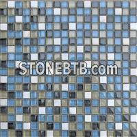 Crystal White Marble Mosaic,Glass Mosaic Tiles Pattern